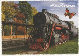 STEAM   LOCOMOTIVE  /  ESTONIA - Trains