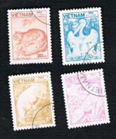 VIETNAM - SG 772.784    - 1984 ANIMALS   -  USED - Vietnam