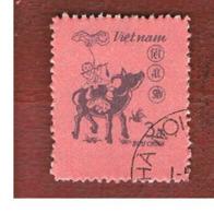 VIETNAM - SG 795    - 1985  YEAR OF THE BUFFALO    -    USED - Vietnam