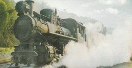 JIAYANG NARROW-GAUGE STEAM TRAIN  ---- SLIGHT BEND/CREASE BOTTOM RIGHT CORNER - Trains