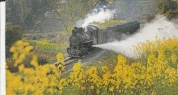 JIAYANG NARROW-GAUGE STEAM TRAIN   /A ---- SLIGHT BEND/CREASE BOTTOM RIGHT CORNER - Trains