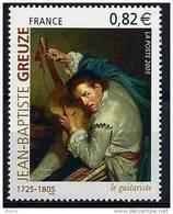 """FR YT 3835 """" Greuze, Le Guitariste """" 2005 Neuf** - Ongebruikt"""