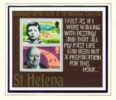 ST HELENA - 1974 Churchill Miniature Sheet Unmounted/Never Hinged Mint - Saint Helena Island