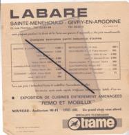 Publicité: LABARE ,Sainte Ménéhould(51)Givry En Argonne,propose Pendant La Durée De La Foire ..... - Werbung