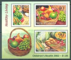 NEW ZEALAND - MNH/**. - 2002 - CHILDREN'S HEALTH HEALTHY LIVING - Yv 160 -  Lot 20676 - Blocs-feuillets