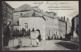 FELDPOST Postkaart Van Couvin (Villégiature) - école Normale Et L'école Moyenne ; Staat Zie 2 Scans ! - WW I