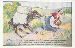 Publicité Potasse D'Alsace - Illustration L'âne Et La Fermière - Publicité