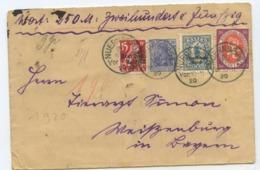 1920 Deutsches Reich → Wert Brief Nürnberg Nach Weissenburg - Covers & Documents
