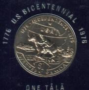 SAMOA $1 TALA USA 200 YEARS HORSE FRONT MAN HEAD BACK 1976 UNC KM? READ DESCRIPTION CAREFULLY !!! - Samoa