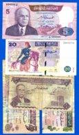 Tunisie  5  Billets - Tusesië