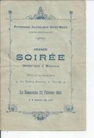 SAINTE MERE EGLISE  Grande Soiree Dramatique Et Musicale Du 22 Fevrier 1914 - Programma's