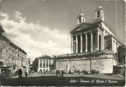 Schio (Vicenza) Piazza A. Rossi E Duomo, A. Rossi Square And Cathedral, Place A. Rossi Et La Cathedrale - Vicenza