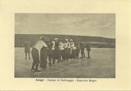 Asiago (Vicenza) Campo Di Pattinaggio, Esercizio Bogen, Ristampa Del 1987 Da Foto D'epoca Del 1900 - Vicenza