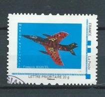 50 TPAM - TIMBRE PERSONNALISÉ OBLITÉRÉ -  AVION MARINE NATIONALE - FLOTTILLE 11 F - RAFALE (TIGER MEET) - France