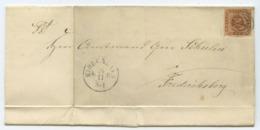 1864-04 Dänemark → Brief Kopenhagen Nach Frederiksborg - Lettere