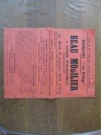 """DOURLERS """"LE VILLAGE"""" LE 13 SEPTEMBRE 1955 BEAU MOBILIER A VENDRE EN LA DEMEURE DE M. ET Mme LOBELLE-ROUSSEAU 40cm/30cm - Plakate"""