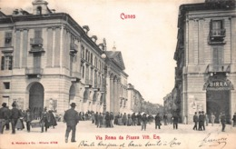 CPA CUNEO - Via Roma Da Piazza Vitt. Em - Cuneo