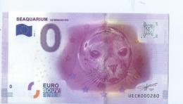 2016 BILLET TOURISTIQUE 0 Euro  Seaquarium   Dpt 30  Port 1.30 - EURO