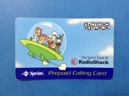 Scheda Telefonica Usata Prepaid Calling Card Used Stati Uniti USA Cartoon Network Radio Shack Sprint - Sprint