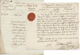 Armée De La Moselle An 2 - 17.3.1794 Lunéville-Belfort 1er Régiment à Cheval + Certificat - Documents Historiques