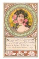 CPA ART NOUVEAU KOSA FEMME FLEUR ROSE - 1900-1949