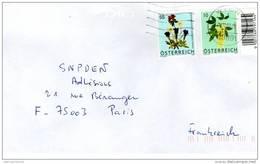 Autriche Timbres Fleurs De Montagne 2007 Sur Enveloppe - 1945-.... 2a Repubblica