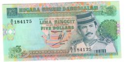 BRUNEI5RINGGIT1989P14UNC.CV. - Brunei