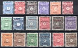 SOMALIS - YT Taxe N° 21 à 38 - Neufs * - MH - Cote: 59,00 € - Nuovi