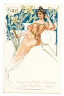 CPA ART NOUVEAU STYLE MUCHA FEMME FLEUR IRIS BELLE JARDINIERE - Künstlerkarten