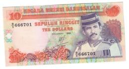BRUNEI10RINGGIT1989P15UNC.CV. - Brunei