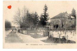 03115-LE-39-Cousance-L' Avenue De La Gare---------animée--------temps De Neige - France