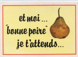 HUMOUR 240 : édit. Lyna-Paris N° 937/2 : Et Moi.... Bomme Poire Je T Attends .... , Série Expressions Fruits - Humour