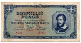 Ungheria Magyar 1 Milion Pengo 1945 - Hungary