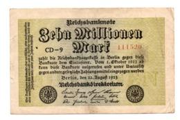 Germania Reich 10 Milion Mark 1923 - [ 3] 1918-1933: Weimarrepubliek