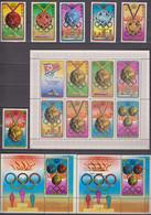 North Korea 02.08.1976 Mi # 1516-21 Kleinbogen А1516-А1522 Bl 27 Bl A27 Medalwinners Of The Montreal Summer Olympics - Verano 1976: Montréal