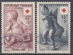 +France 1955. Croix-Rouge. Yvert 1048-49. Oblitéré, Cancelled - France
