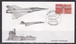 = 75 Ans D'Aviation Aéroport De Mérignac 12-13.10.1985 Mirage 2000 Concorde Au Dessus De L'Aéroport N°1340 Vol à Voile - Vliegtuigen