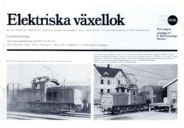 Catalogue PERL HO Model 1978 ? Elektriska Växellok Skala HO 1/87 Brochure - En Suédois - Livres Et Magazines