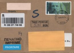 Bulgaria 2019, Sofia. Registered Barcoded  Cover To U.K. Single Franking - Interesting - Storia Postale