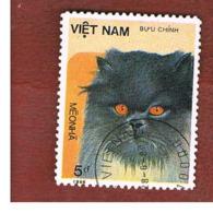 VIETNAM - SG 952    -   1986   CATS: BLACK-FACED CAT                         -    USED - Vietnam