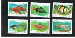 VIETNAM - SG 1111.1116    -   1987 FISHES                      -    USED - Vietnam
