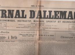 JOURNAL D'ALLEMAGNE 11 08 1912 - BERLIN - MAROC - HALLE - JOUETS NUREMBERG - EDISON - BISCUITERIE PERNOT DIJON - DRESDE - Journaux - Quotidiens