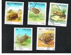 VIETNAM - SG 1225.1230    -   1988   ANIMALS: TURTLES & TORTOISES                  -    USED - Vietnam