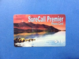 Carta Scheda Prepagata Usata Phone Card Used Stati Uniti USA SureCall Premier $ 10 - Vereinigte Staaten