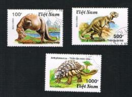 VIETNAM - SG 1461.1464  -   1990 PHREHISTORIC ANIMALS             -    USED - Vietnam