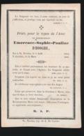 EMERENCE D'HOOGHE  ST.NICOLAS 1814   1866 - Overlijden