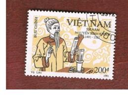 VIETNAM - SG 1544  -   1991  N.B. KHIEN, POET           -    USED - Vietnam