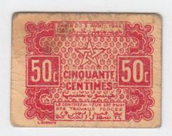 MOROCCO 50 CENTIMES 1944 VF Pick 41 - Marokko