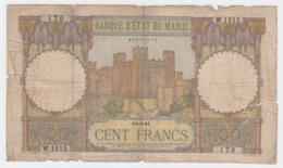 Morocco 100 Francs 1941 G-VG Banknote Pick 20 - Marocco