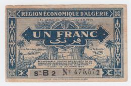 ALGERIA 1 FRANC 1944 / 1949 Fine Pick 98a 98 A - Algerije